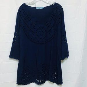 Solitaire Embellished Swimsuit Coverup